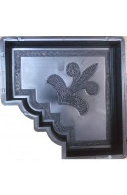 Гжель-угловая плита форма