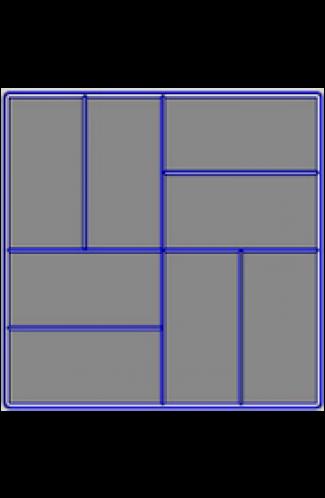 8 кирпичей -( крупн.шагрень) ( 400x400х50)