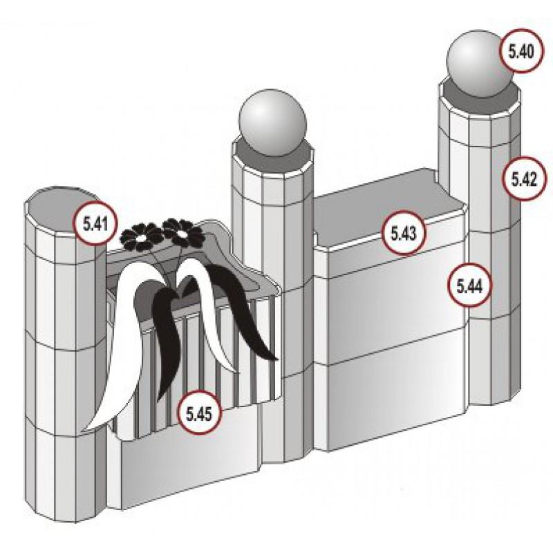 Блок столба (240x240x250)
